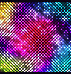 abstract bright multicolor mosaic background vector image