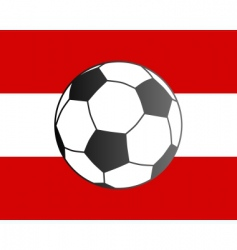 flag of Austria and soccer ball vector image vector image