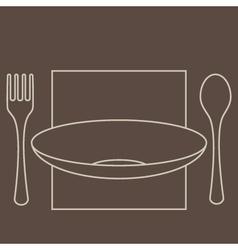 ForkSpoonPlate vector image
