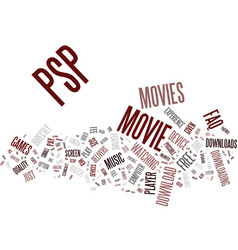 Free psp movie downloads an faq text background vector