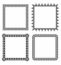 geometric ornamental frames vector image vector image