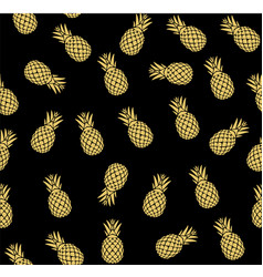 pineapple seamless vector image vector image