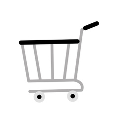 shopping cart online delivery market gray color vector image vector image
