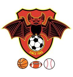 Vampire bat as a sport mascot vector