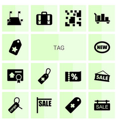 14 tag icons vector