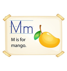 A letter m for mango vector