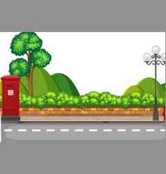 A roadside nature scene vector