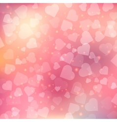 Abstract bokeh heart background vector
