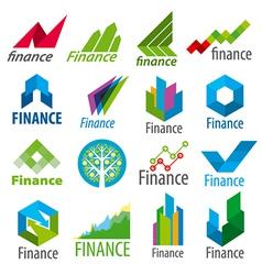 Big set of logos Finance vector
