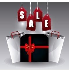Black friday shopping season vector image