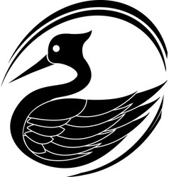 Black stork stencil vector