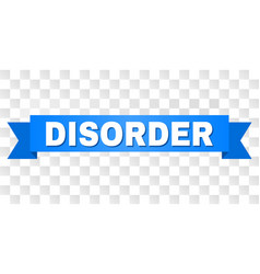 Blue ribbon with disorder caption vector