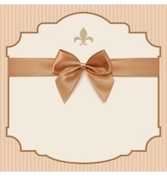 BowWedding Invitation Card Vintage greeting card vector