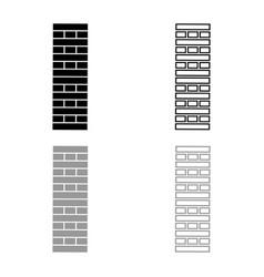 Brick pillar blocks in stack jenga game for home vector