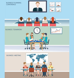 Business meeting dasign vector
