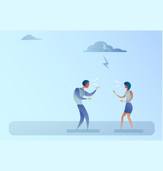 business people angry shouting conflict concept vector image
