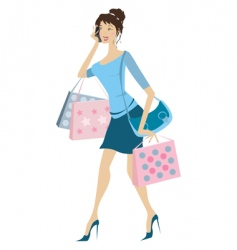 Busy woman vector