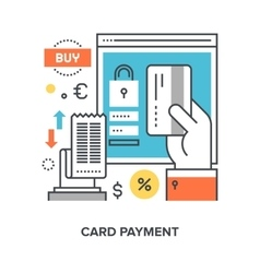 Card payment concept vector