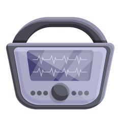 Cardiology defibrillator icon cartoon style vector