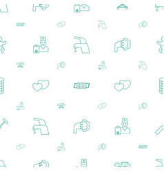 care icons pattern seamless white background vector image