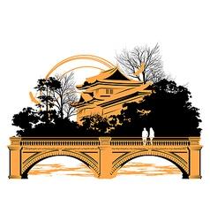 Chinese bridge vector