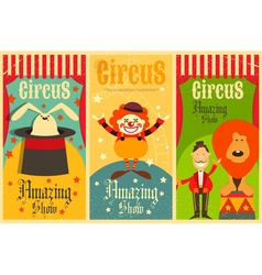 Circus poster retro vector
