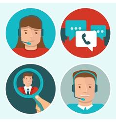 Client service vector