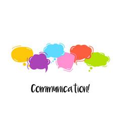 communication bright color dialog speech bubbles vector image