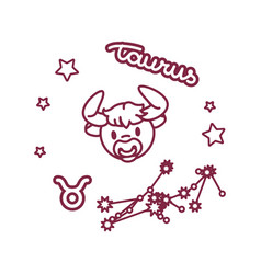 cute line zodiac sign vector image