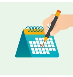 Deadline time management concept vector image