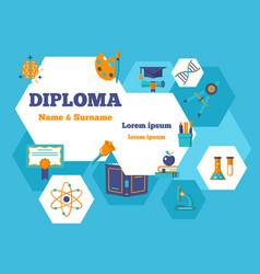diploma horizontal poster vector image