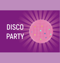 disco party purple bright background vector image