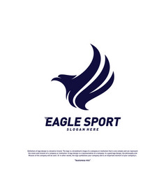 eagle logo design birds logo concept template vector image