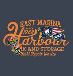 east marina harbor dock yacht storage vector image
