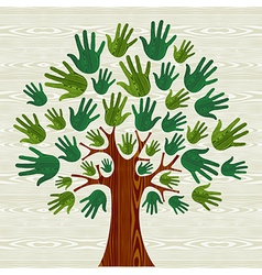 Eco friendly Tree hands vector