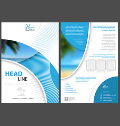 Elegant flyer template with geometric shapes vector