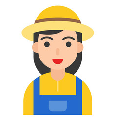 farmer icon profession and job vector image