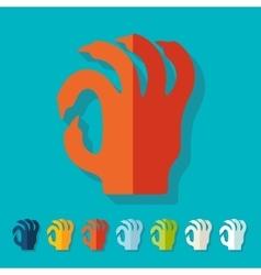 Flat design hand vector