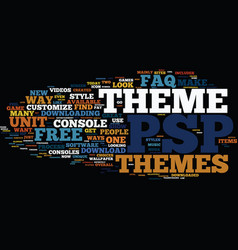 free psp themes an faq text background word cloud vector image