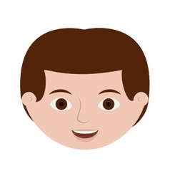 Front face redhead male hairstyle vector