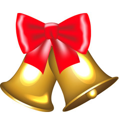 golden bells with bow vector image