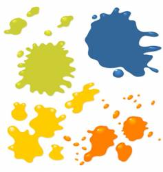 grunge ink splashes vector image