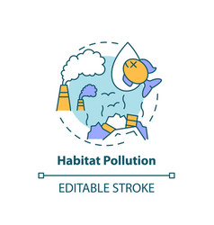 Habitat pollution concept icon vector