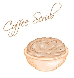 hand drawn of isolated coffee body scrub vector image