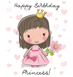 Happy Birthday Princess Card Vector Images Over 820