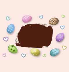 happy easter background pastel eggs texture vector image
