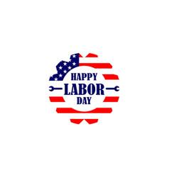 happy labor day usa logo design vector image