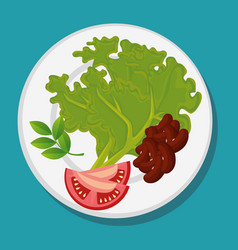 healthy fruits and vegetables vector image