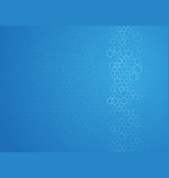 hexagonal outline abstract blue background vector image