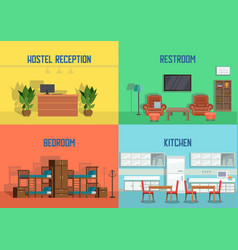 hostel and real estate service vector image